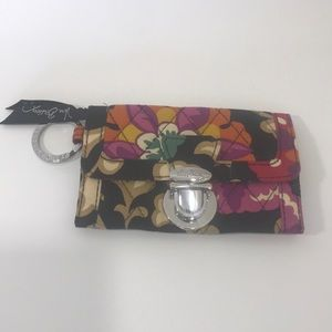 Vera Bradley Mini Id Coin Wallet Key Chain Holder